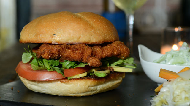 PHOTO: The Schnitzel Sandwich is served at Edi and The Wolf, New York City, Oct. 3, 2012.