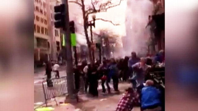 VIDEO: A bystander filmed the chaos of people who were positioned in between the two explosions.