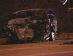 PHOTO: A black suburban went the wrong way on I-95 near Miami, Fla., crashing into a van and killing all four passengers on April 3, 2013.