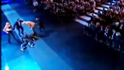 Video: Man injured on live German television show.