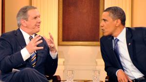 PHOTO: Charles Gibson President Obama