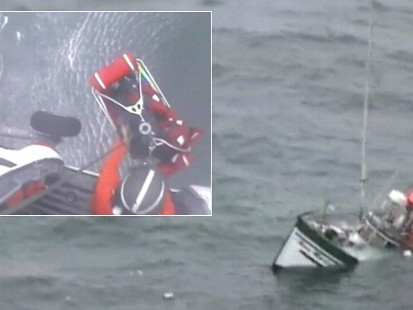 Video: Coast guard rescues boater.