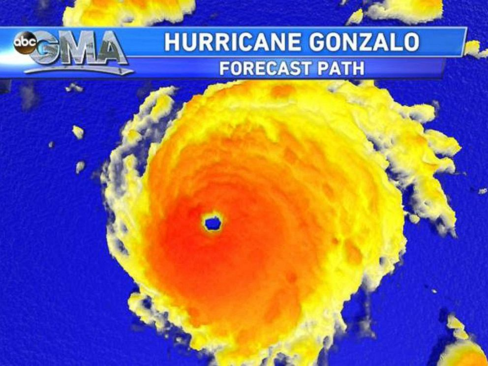 PHOTO: A view of Hurricane Gonzalo