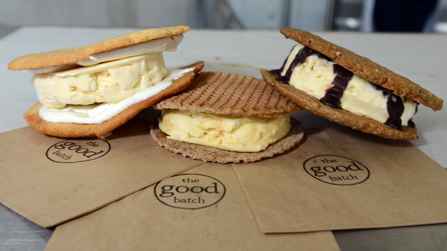 PHOTO: The Good Batch Bakery, owned by Anna Gordon makes handmade ice cream sandwiches, Lemon and Laughter, the Stroopwafel ICS, and the Goodwich are seen here, in their kitchen, Brooklyn New York, July 20 2012.