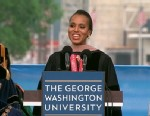 PHOTO: Kerry Washington returns to her alma mater to address graduates at the George Washington Universitys Commencement ceremony on the National Mall on May 19, 2013.