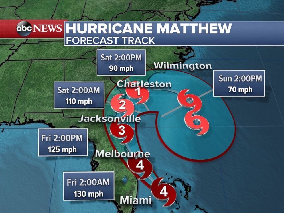 PHOTO: Hurricane Matthew was upgraded to Category 4 on Oct. 6, 2016, as millions in the U.S. were warned that this storm will kill you.
