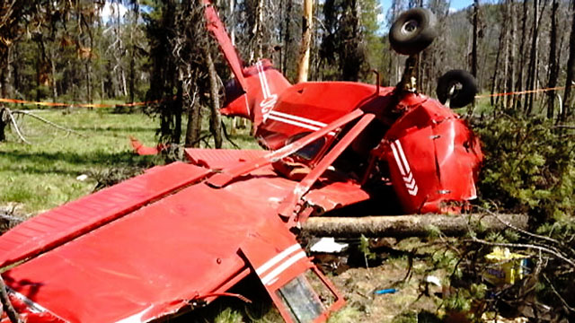 PHOTO: Four people in Idaho survived a crash in a vintage single-engine plane.