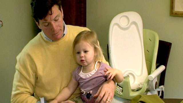 PHOTO: Jake Howard-Potter, a sculptor, is a stay-at-home dad, while his wife Erica, works full time as a tax attorney.