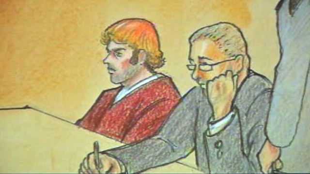 PHOTO: James Holmes courtroom sketch