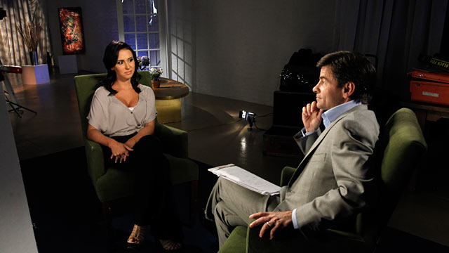 PHOTO: Jenn Sterger, the former Jets television personality who found herself at the center of the Brett Favre sexting scandal, sat down for her first television interview with George Stephanopoulos.