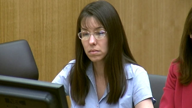 PHOTO: Jodi Arias listens in court during her murder trial on Jan. 8, 2013.