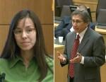 PHOTO: Jodi Arias and prosecutor Juan Martinez in court during her trial for the murder of her boyfriend, Feb. 27, 2013, in Phoenix.