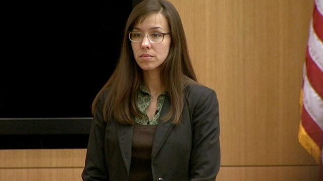 PHOTO: Jodi Arias stands in court, Feb. 6, 2013.