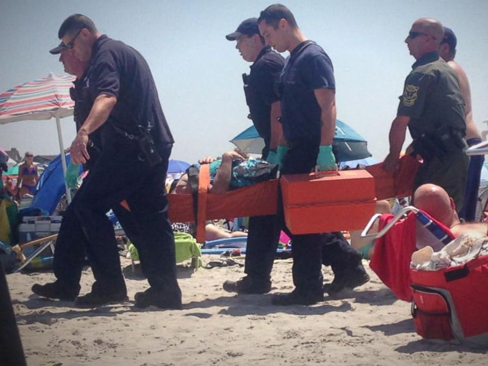 PHOTO: Kathleen Danise was injured by a mysterious blast at Salty Brine beach in Narragansett, R.I., July 11, 2015.
