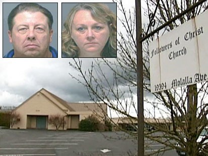 Picture of Jeffrey Beagley, Marci Beagley and their church.