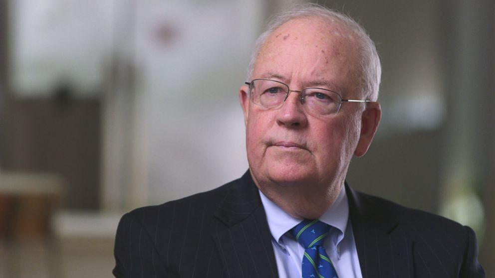 Ken Starr is seen here during a 2018 interview with ABC News.