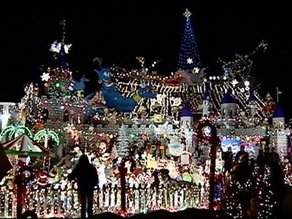 VIDEO: A California man transforms his home into a huge holiday display.