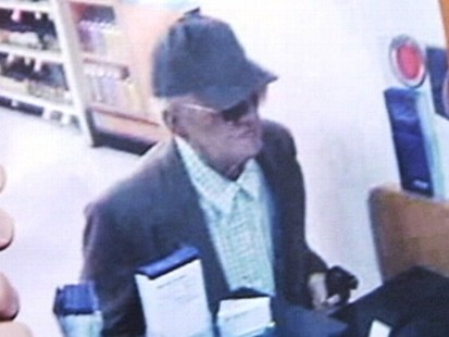 VIDEO: Officials say an elderly man has already robbed eight banks in California.