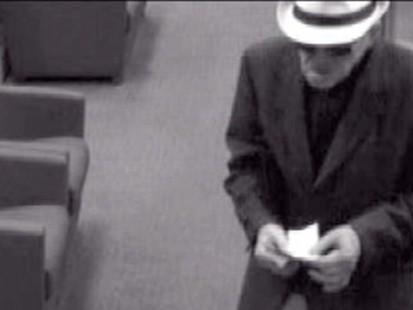 Video: Calf. geezer bandit strikes again.