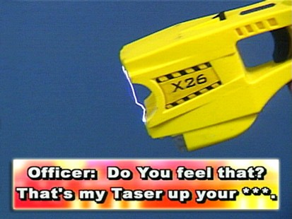 VIDEO: Two police officers are discipliners for their use of Tasers.