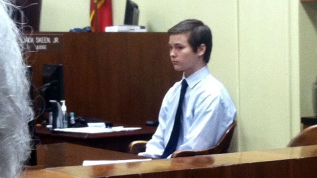 PHOTO: Nate Anderson, the 16-year-old Chapel Hill teen accused in his sisters shooting death is entered a plea agreement, Feb. 2, 2012.