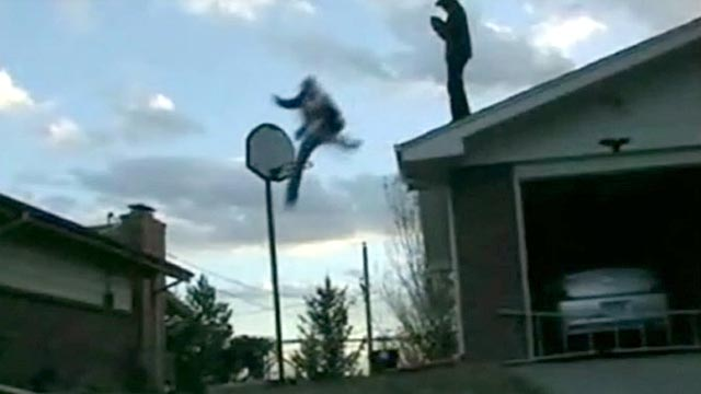 PHOTO:Some teen stunts include jumping off buildings and setting themselves on fire