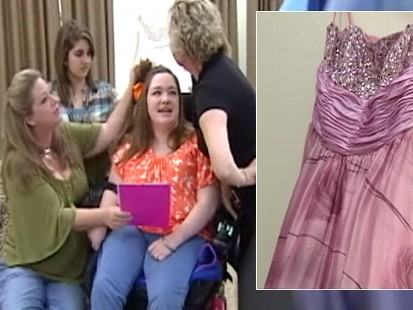 Video: Designer makes special prom dress for teen with cerebral palsy.