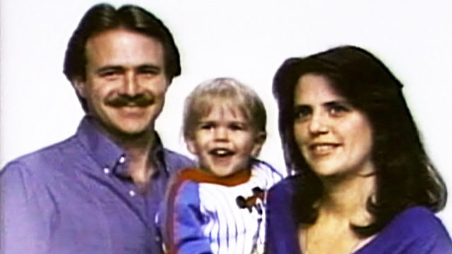 PHOTO: Michael Morton with wife Christine and son Eric