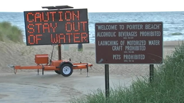 Photo Swimmers Have Been Ordered To Stay Out Of Lake Michigan In Parts Northwest