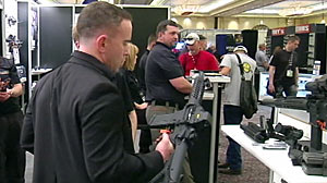 PHOTO The Shot Show, the world?s largest gun trade show and conference, began on Tuesday in Las Vegas amid the country?s ongoing gun debate.