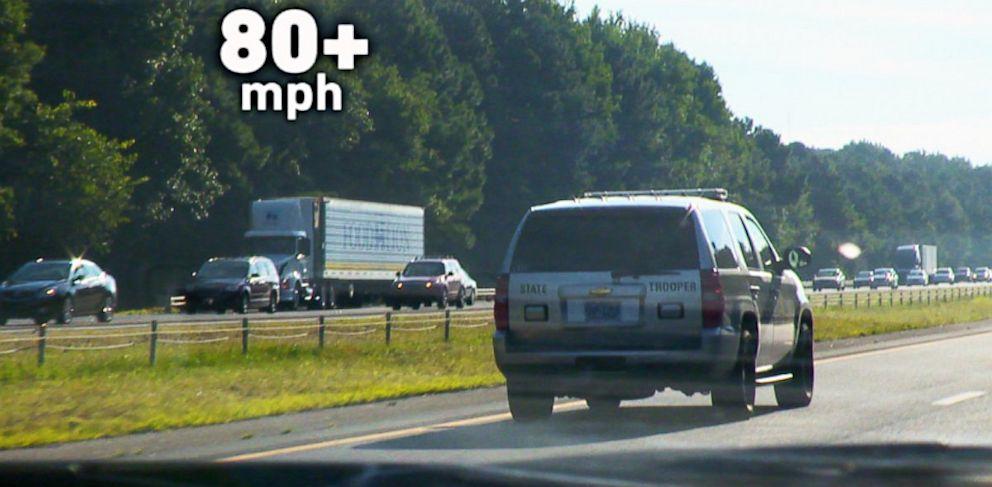PHOTO: Speeding law enforcement vehicle