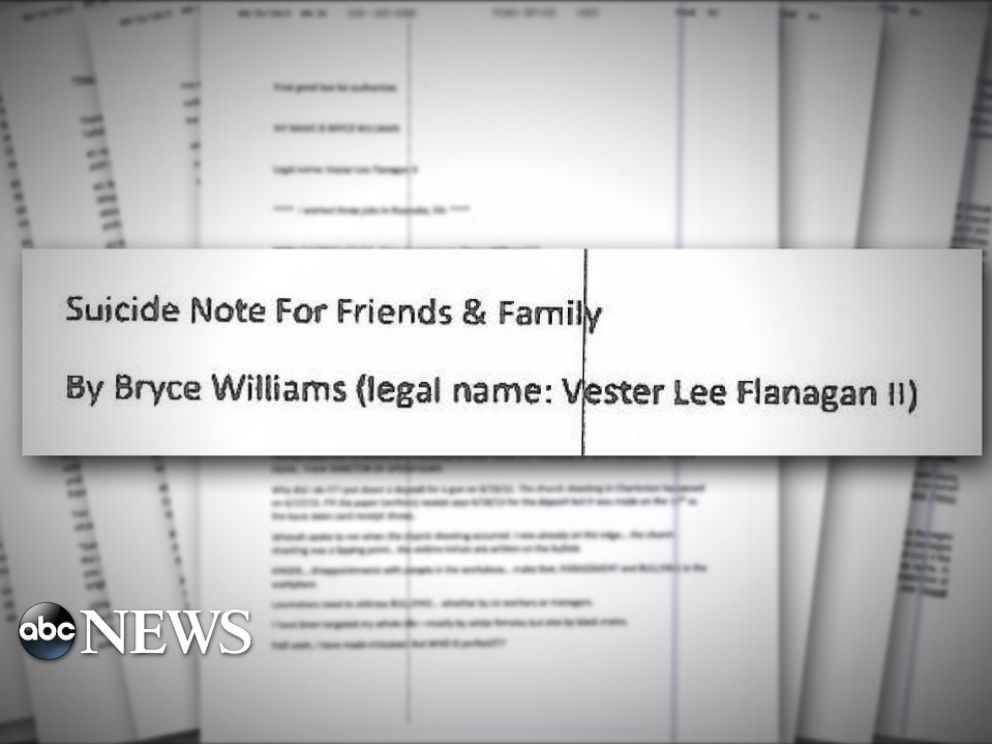 PHOTO: Vester Lee Flanagan II, the suspect in the Virginia shootings of a news reporter and cameraman, faxed a 23-page document to ABC News.