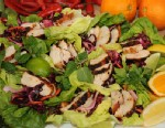 PHOTO: Bobby Flays Garlic & Smoked Paprika Chicken Lettuce Wraps with Fennel Slaw and Serrano-Mint Sauce