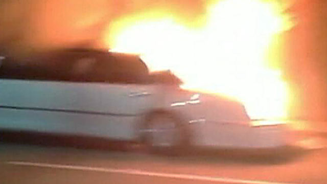 PHOTO: Nine women were in a limo, along with a male driver, when it caught fire on the San Mateo-Hayward Bridge, California Highway Patrol said.