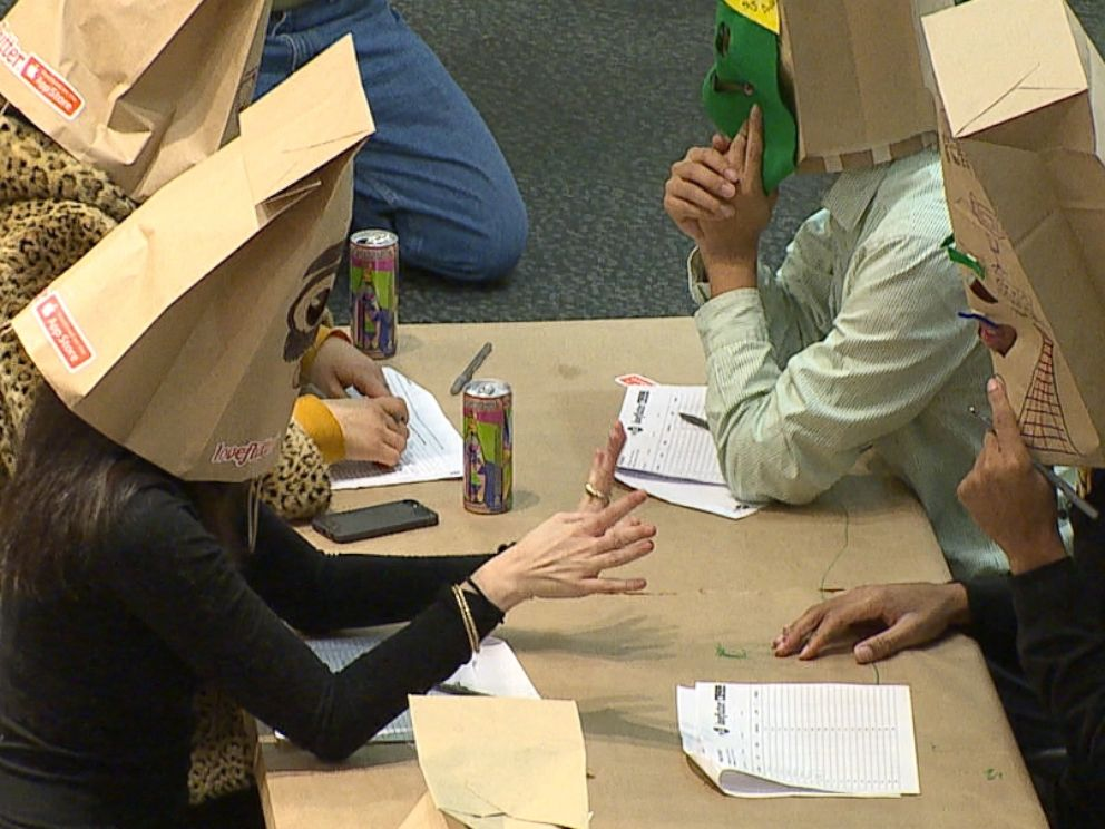 PHOTO: LoveFlutter has taken anonymous dating one step further with hosting special speed-dating events where participants wear paper bags over their heads.