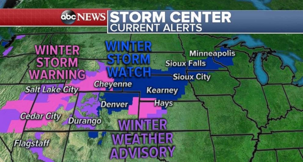 PHOTO: Snow is heading to parts of Nevada and Utah.