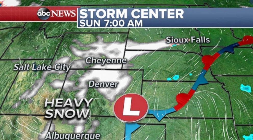 PHOTO: Parts of Colorado and Utah will experience heavy snow.