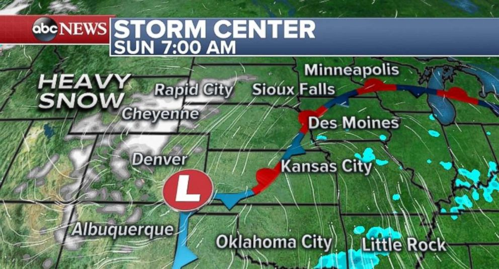 PHOTO: Heavy snow is forecast for parts of Colorado.