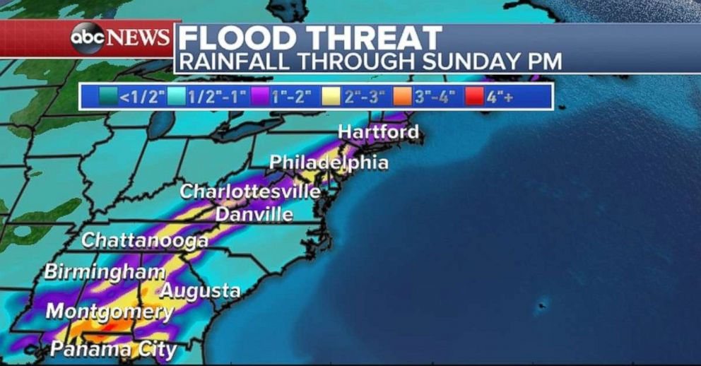 PHOTO: Theres a flood threat for parts of the eastern U.S.