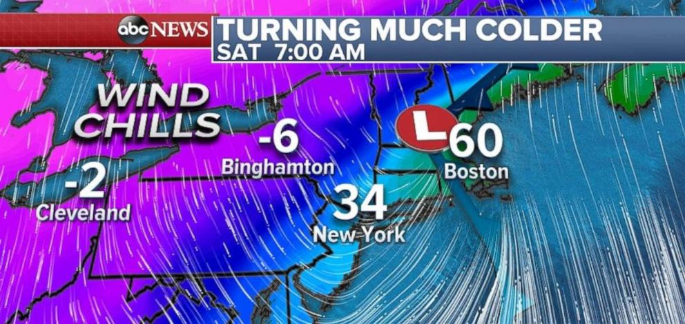PHOTO: Its going to be very chilly in parts of the Northeast on Saturday.