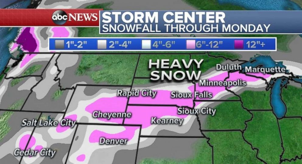 PHOTO: Heavy snow is forecast for parts of the Midwest.