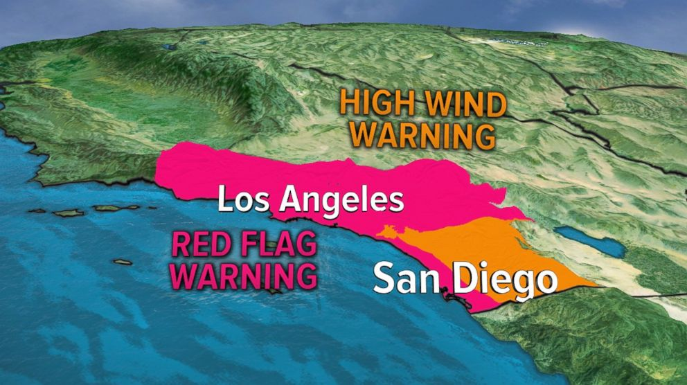 PHOTO: There is Red Flag Warning for Southern California.