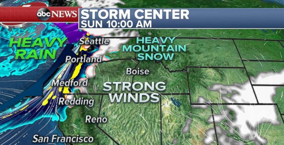 PHOTO: Heavy rain is headed for the Pacific Northwest.