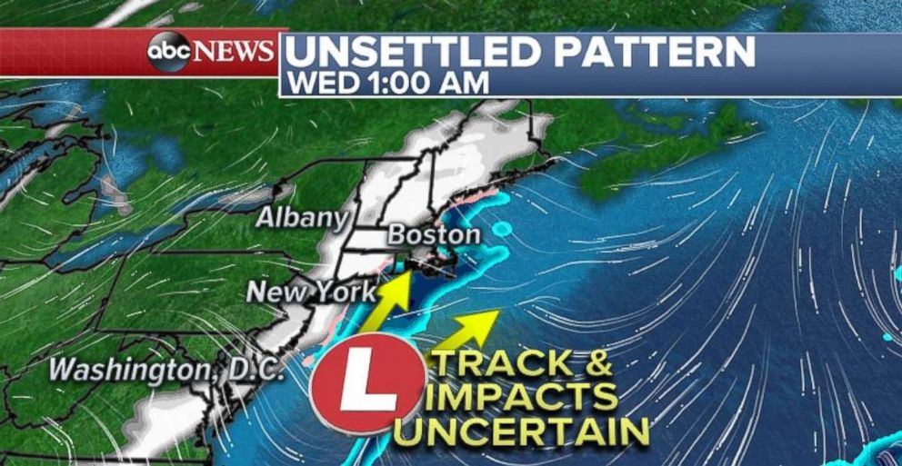 PHOTO: Theres an unsettled pattern heading to the Northeast mid-week.