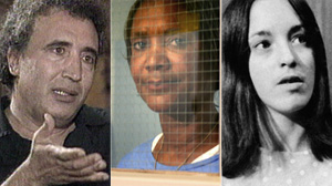 PHOTO Abdel Basset Ali al-Megrahi, left, Deborah Peagler, center, and Susan Atkins are shown in these file photos.