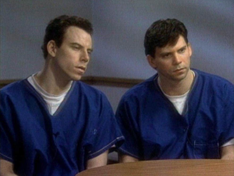 Erik (left) and Lyle (right) Menendez are shown here during a 1996 interview with ABCs Barbara Walters.
