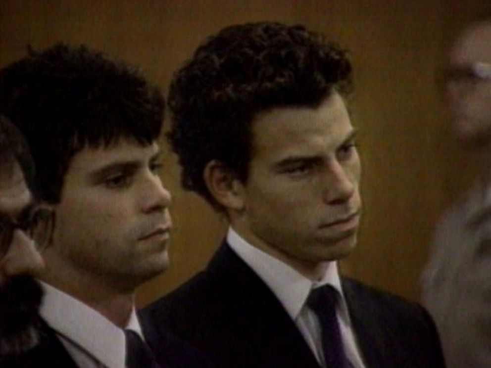 Lyle (left) and Erik (right) Menendez appear in court in May 1990.