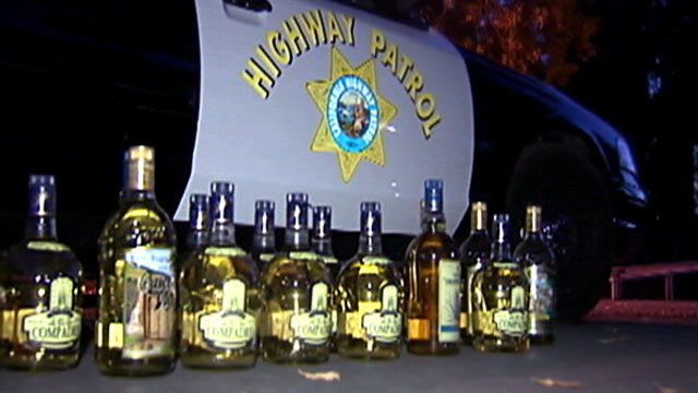 "PHOTO: The California Highway Patrol seized more than 50 pounds of ""liquid meth"" on the highway in Coalinga, Calif."