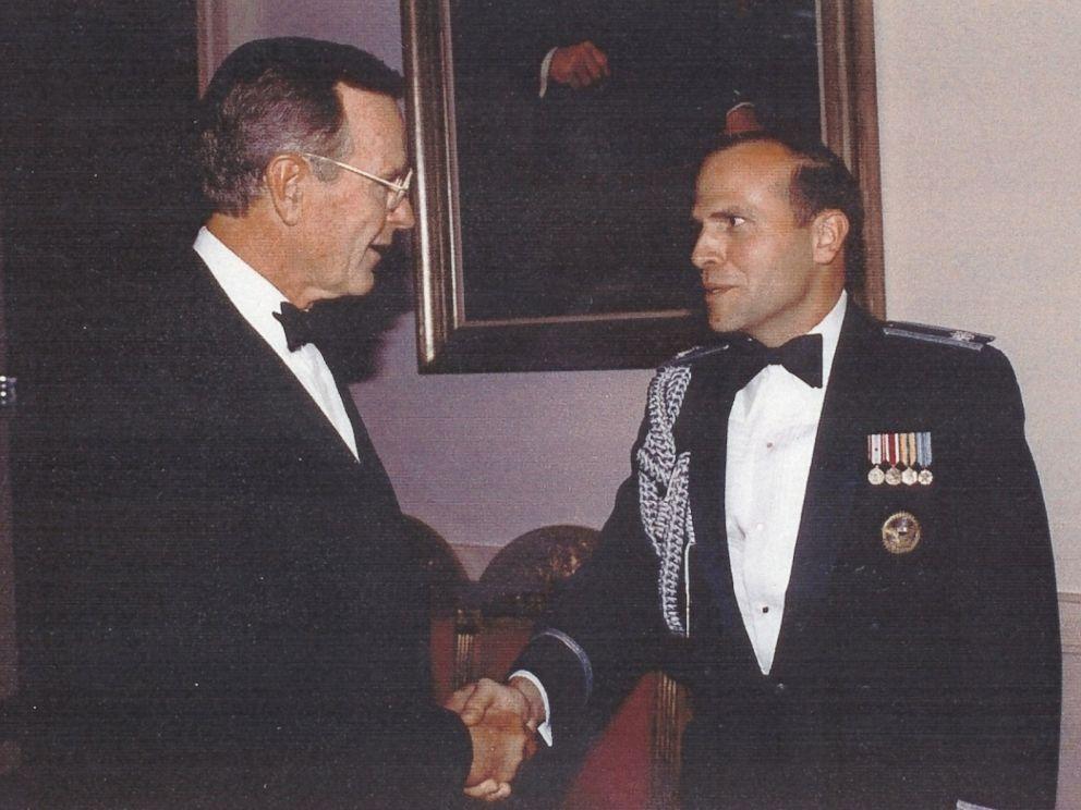 PHOTO: Col. Tim Milbrath with former President George H.W. Bush.