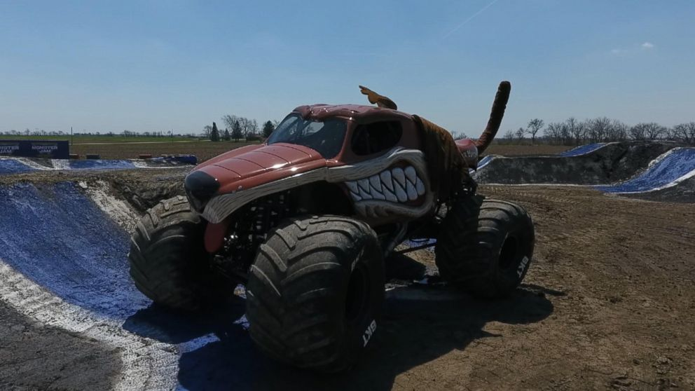 Candice Jolly said driving a 12,000-pound monster truck is exhilarating